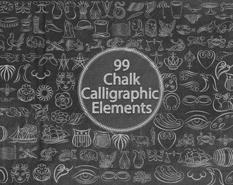 Chalk Calligraphic Elements