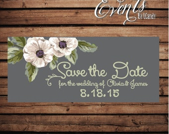 Wedding Save-the-Date Sample - with anemones 204