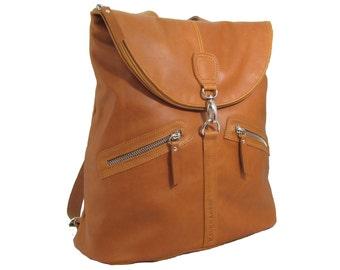 Leather backpack. Model Pepa