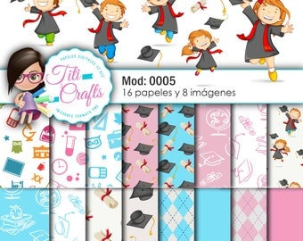 Digital paper kit Mod: 0005 graduate children