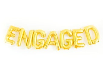 Engagement Balloons, Engagement Props, Engaged Banner, Engagement Party Decor