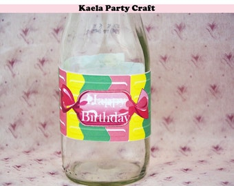 Candyland bottle labels. Candyland decoration. Candyland birthday. Candyland party. Candyland party decorations. Candyland birthday party