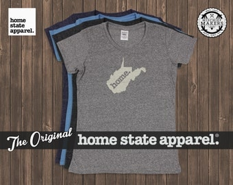 West Virginia Home. T-shirt- Womens Cut