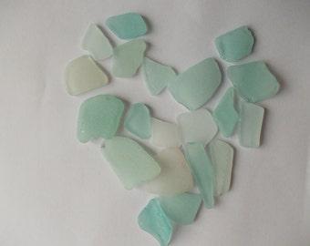Sea Glass / Light blue beach glass / Teal white sea glass / Baltic sea beach glass bulk