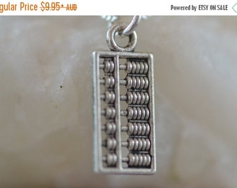 SALE Abacus Necklace, NA001, Maths, Mathematics, Geek, accountant, banker