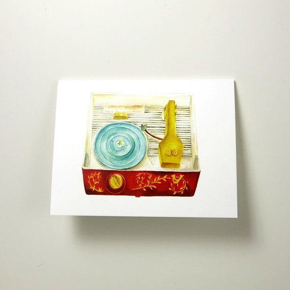 FP Record Player Greeting Card