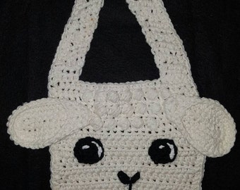 Crochet Little Lamb Bib