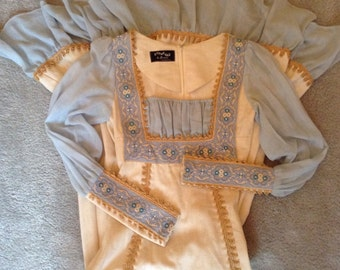Vintage Gunne Sax Black Label Maxi Dress Wedding 1969 Prairie Dress exsmall-small