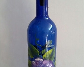 Hand-Painted Wine Bottle Incense Burner