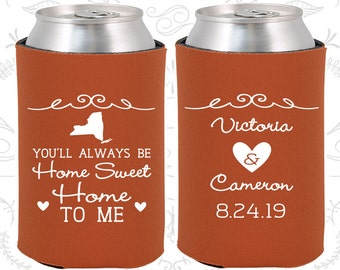 Burnt Orange Wedding, Can Coolers, Burnt Orange Wedding Favors, Burnt Orange Wedding Gift, Burnt Orange Wedding Decor (473)