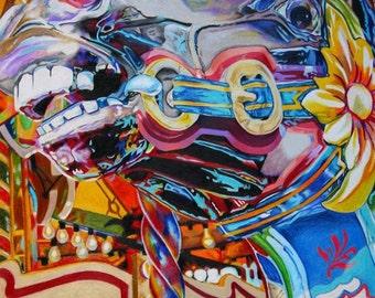 "Carousel Horse - 8x10"" print"