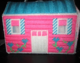 pink and blue cottage