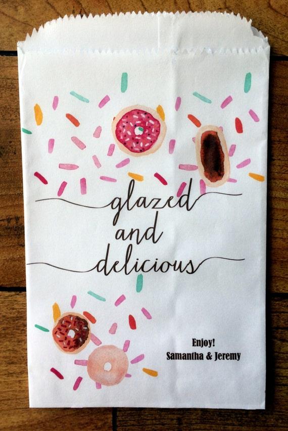 Wedding Favor Donut Bags : Wedding Favor bags, Doughnut Bags, Wedding Favors, Candy Buffet bags ...