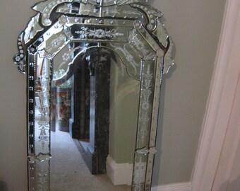 SOLD - Large Vintage Venetian Mirror