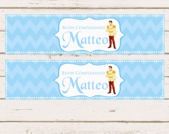 Charming Prince Custom Water Bottle Label