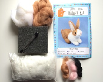 Rabbit kit make your own needle felted bunny