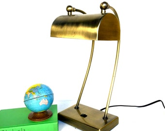 VIntage Gold Metal Desk Lamp