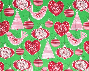 Michael Miller Fabrics - Ornaments For All Green - CX5752-GREE-D