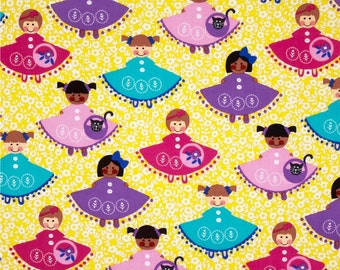 Michael Miller Fabrics - Dollies Yellow - CX6017-YELL-D