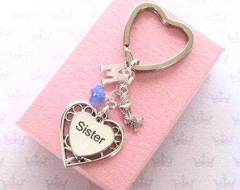 Mermaid keychain - Personalised Sister keychain - Mermaid keyring - Sister birthday - Sister gift - Sister keyring - Mermaid gift - UK