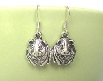 Cute guinea pig earrings - novelty earrings - animal earrings - cavie earrings - guinea pig jewellery - Stocking filler - secret santa - UK