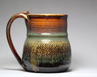 22oz pottery mug, ceramic stoneware
