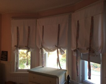 Tie up curtains custom made