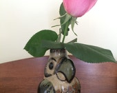 Mexican Art Pottery Parrot Bud Vase Villaneuva Mexico