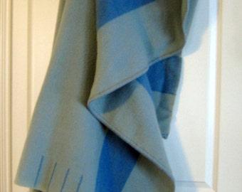 Eaton's Wool Blanket - Vintage blanket - Blue/Green wool Blanket - Trapper 4 Point Stripes - Historical blanket at Designs by Willowcreek