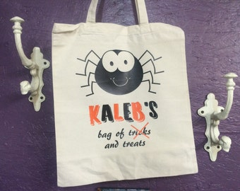 Halloween Candy Bag - Tricks and Treats, Customized Kids Tote