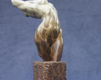 Bronze Female Torso Fragment Statue