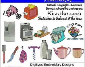 Embroidery Design CD - Kitchen(1) - 18 Designs - 9 Formats - Threadart