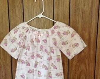Size 2 flannel gown ballerina bears