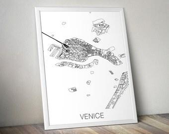 Venice Map Print