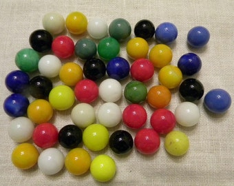 50 Vintage Colorful Marbles - Chinese Checkers Marbles - Vintage Marbles