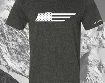 American Flag TennesseeT Shirt ANY STATE AVAILABLE