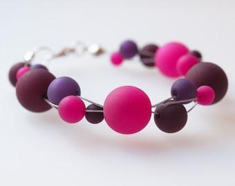 pink purple bracelet polaris