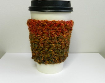 Coffee Cup Sleeve Cozy Take Out Coffee Cup Sleeve Cozy Crocheted Coffee Cup Sleeve Cozy Green Take Out Coffee Cup Sleeve Cozy
