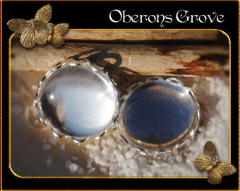 10 light silver settings with 10mm cabochons