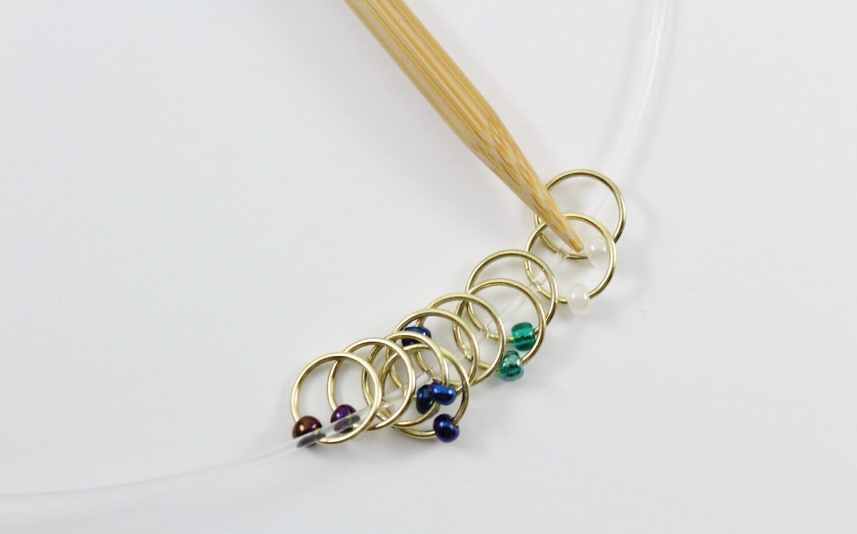 Knitting Stitch Marker Rings : Papa Bear Knitting Stitch Markers snag free markers ring