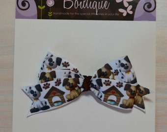 Boutique Style Hair Bow - Dogs