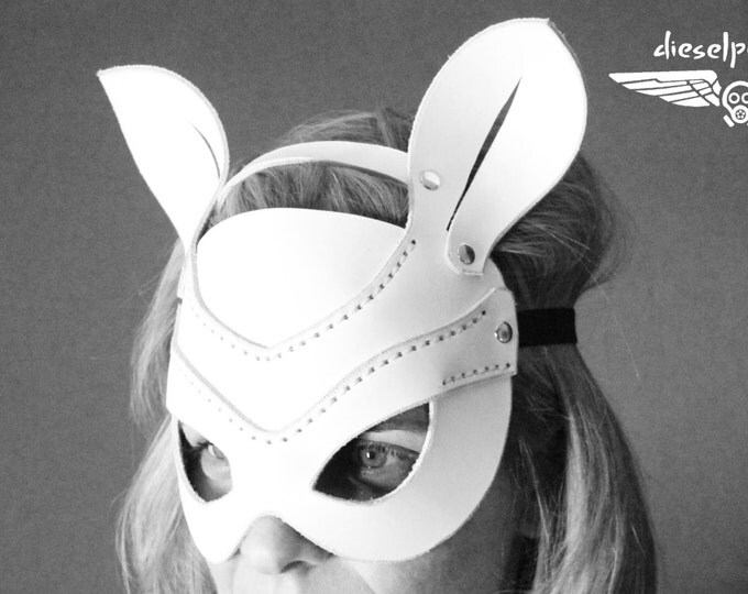 RABBIT MASK leather handmade mask Halloween cosplay fetish animal