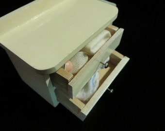 Changing Table Doll Size Miniature Table For Dollhouse // Solid Wood Made  In Germany /