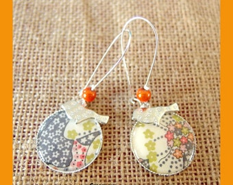 Liberty earring mauvey orange