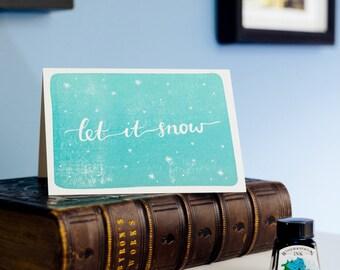 Let It Snow Letterpress Christmas Card