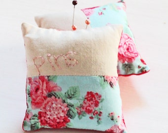 Personalised Pin Cushion - Vintage Floral