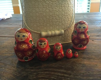 Russian Stacking Dolls // SEE ALL PICTURES //