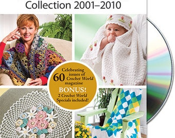 The Crochet World Collection 2001-2010 DVD by Annie's Attic Brand New Crochet World Magazine DVD with 100s of patterns