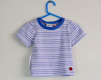 Tee shirt baby boy blue stripe size 1