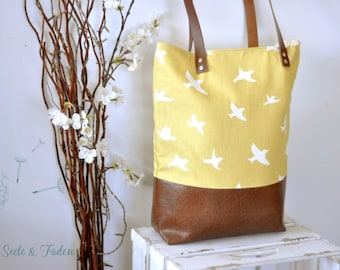 LIVA - the small shopper / Big Bird on yellow